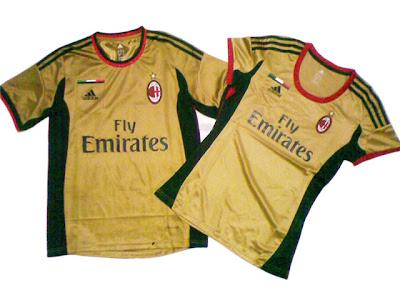 Jersey Couple AC Milan 3rd ( Third ) Gold 2013-2014