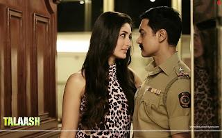 Kareena Kapoor seduces Aamir Khan in Talaash Movie Wallpaper