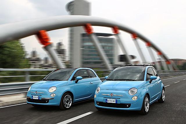 Nuova Fiat 500 con motore 0.9 TwinAir turbo benzina, immagine in movimento