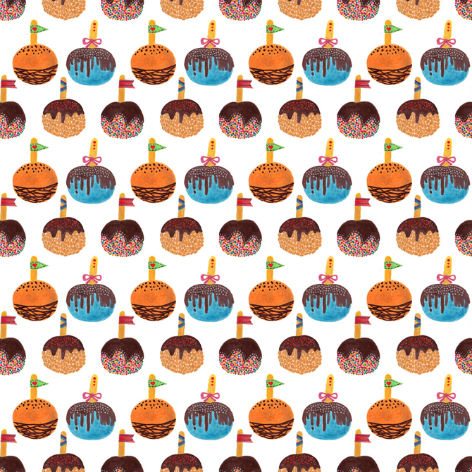 Candy Apple Pattern Printed on Merchandise Illustration by Haidi Shabrina