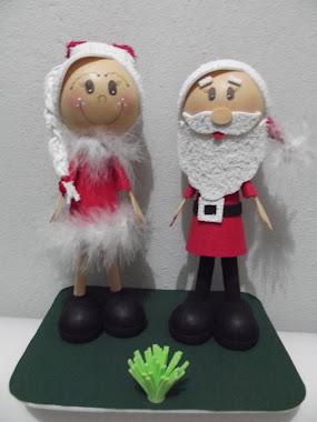 Casal Papai Noel e Mamãe Noel