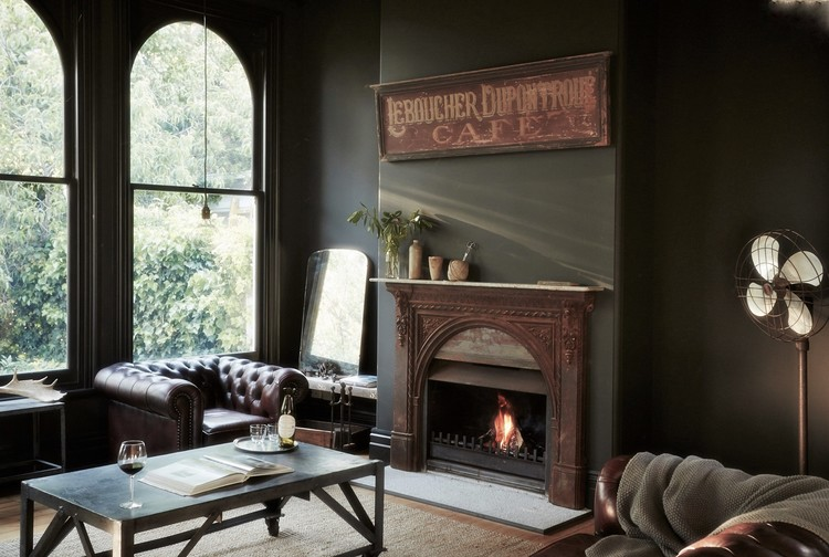 El lounge - eclecticismo de antigüedades, clásico, vintage e industrial