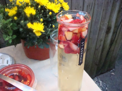 Sangria flora with St-Germain