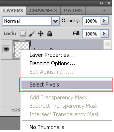 menu select pixels di photoshop sc5