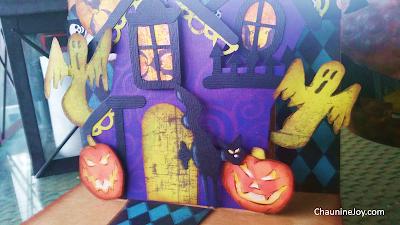Chaunine Joy Mixed Media Halloween Haunted House Pop-up