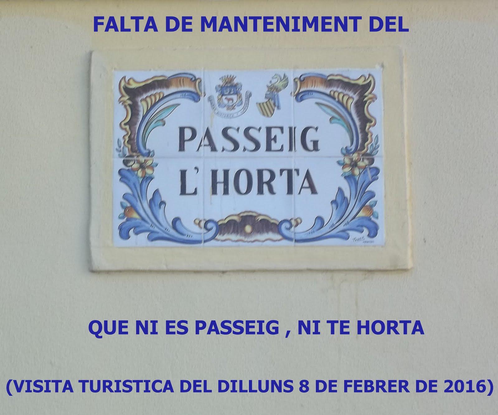 08.02.16 VISITA TURISTICA PEL PASSEIG DE L'HORTA