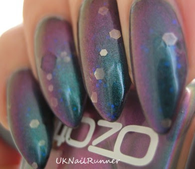 Boots No7 Dollar with Ozotic 505 and glitter