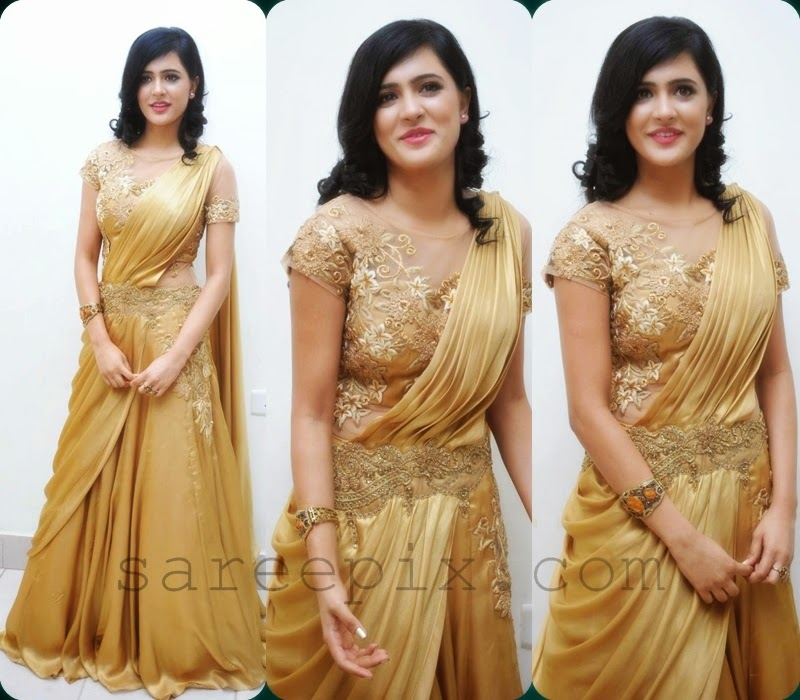 Diah-gold-lehenga-gown-Yamaleela-2-audio-launch