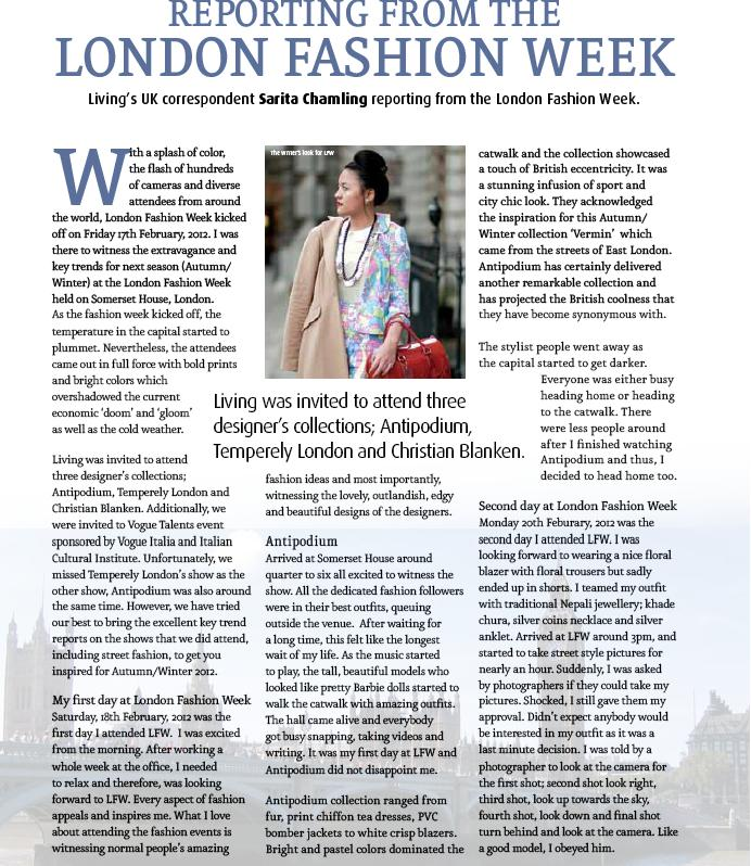 Enjoy The Article I Wrote For Them It Is My Privilage To Write ECS Living Magazine Which One Of Most Prestigious Fashion And Lifestyle