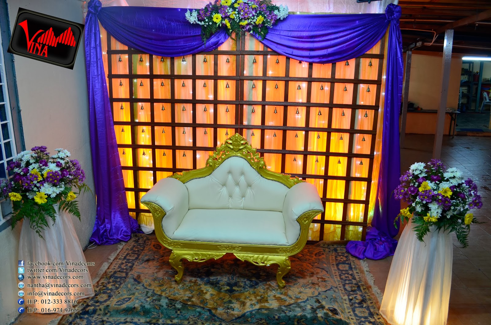 Morning Wedding Decoration at Sri Maha Nageswary Amman Alayam