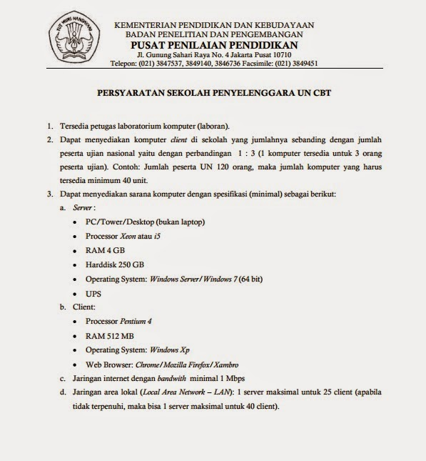 Ujian Nasional 2015 Online Infomasukptn