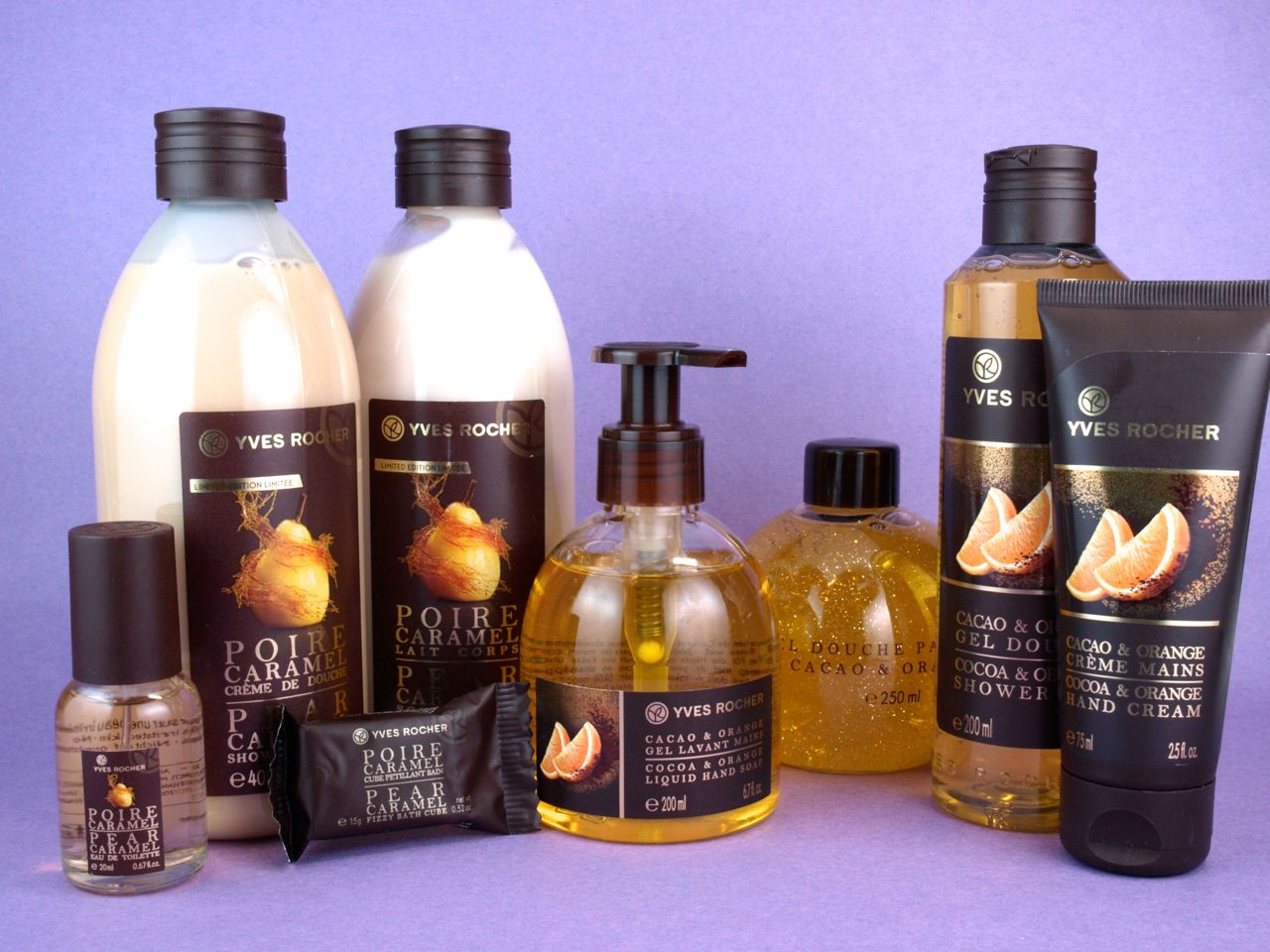 Yves Rocher Holiday 2014 Cocoa and Orange & Pear Caramel Collections: Review