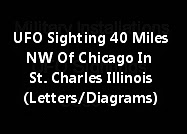 UFO Sighting 40 Miles NW Of Chicago In St. Charles Illinois (Letters/Diagrams)