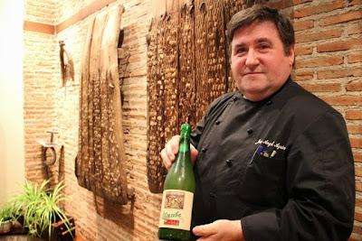 El Chef José Ángel Aguinaga del Restauarante Illunbe. Blog Esteban Capdevila