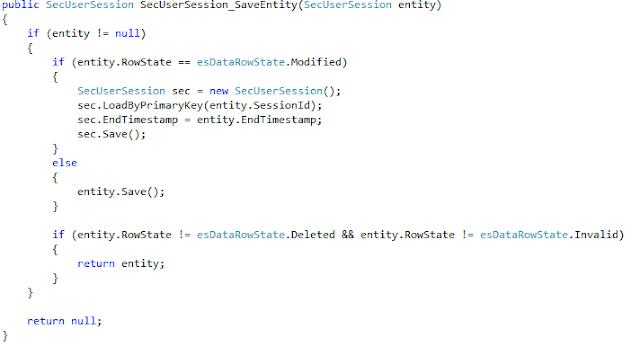 Microsoft EntitySpaces Insert Update Data