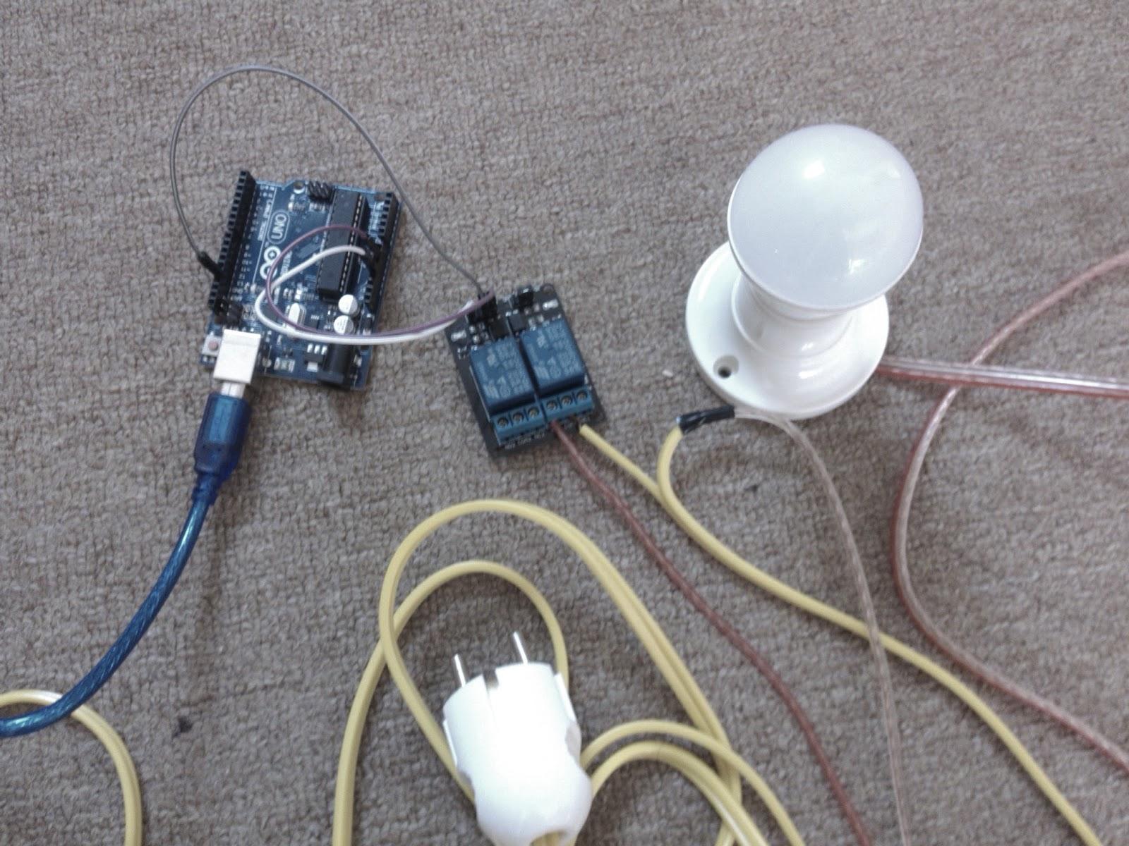 Proyek Arduino 2 Menyalakan Lampu Rumah Ac Menggunakan 4 Terminal Pada Relay Program Yang Saya Buat Adalah Mampu Memberikan Sinyal Untuk Dan Mematikan Melalui Pin Output 13 Sehingga Akan