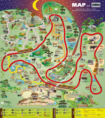 Singapore Night Safari Map