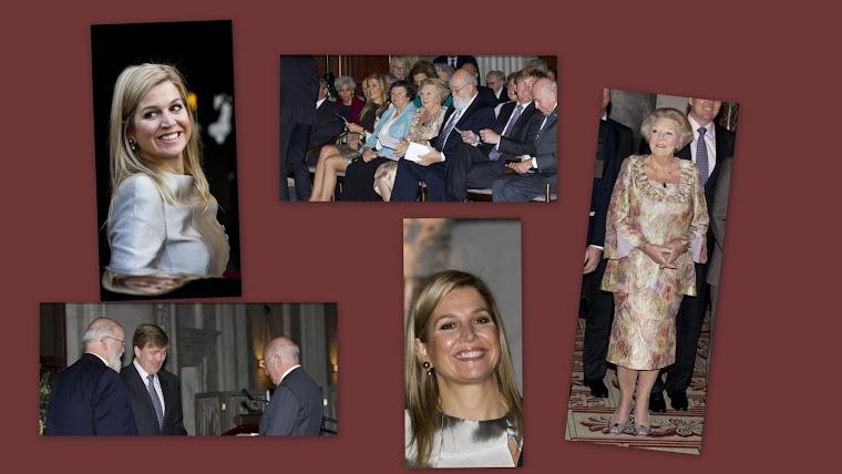 Prins Willem-Alexander prinses Maxima en koningin Beatrix waren bij de Erasmus uitreiking