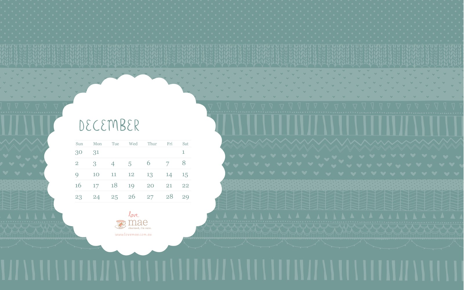 Calendar Wallpaper Love Mae : December free desktop calendar love mae