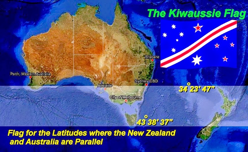 The Voice Of Vexillology Flags Heraldry The Kiwaussie Flag - New zealand latitude