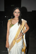 Actress Nivitha Glamorous photos in Saree-thumbnail-14