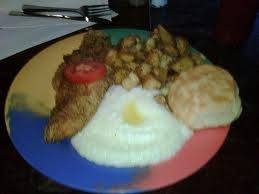 plate with catfish and grits