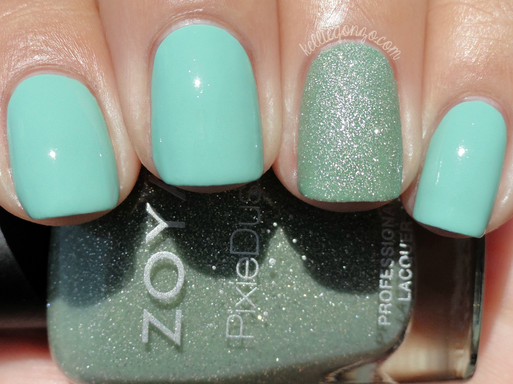 Mint - Original Mint with accent nail of Zoya - Vespa