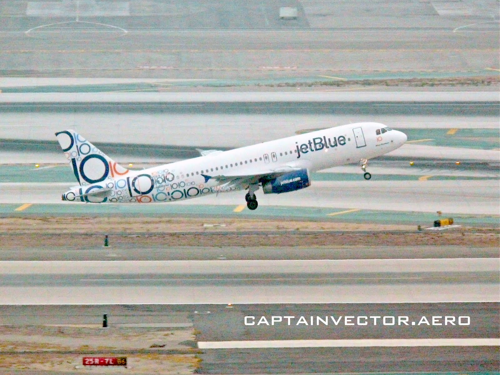 view from the control tower  the many tails of jetblue