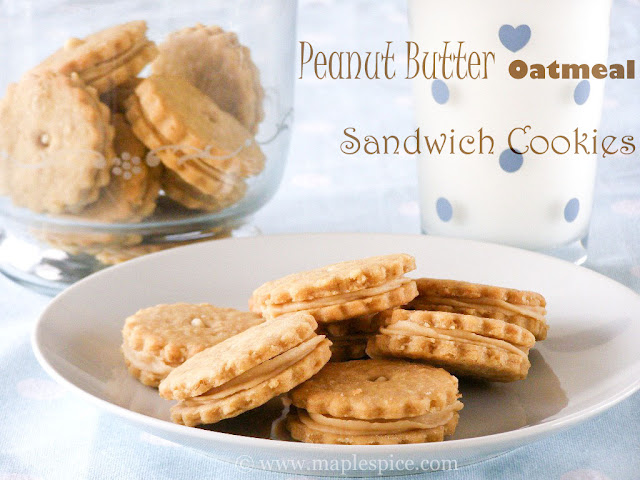 maple•spice: Peanut Butter Oatmeal Sandwich Cookies
