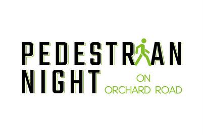 Pedestrian Night on Orchard Road.