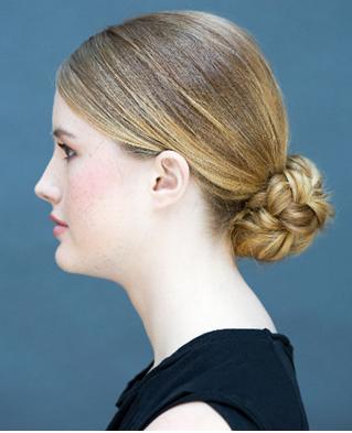 Cepol rendah dengan jalinan rambut