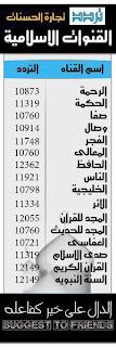 تردد القنوات القرأنية والإسلامية 2013