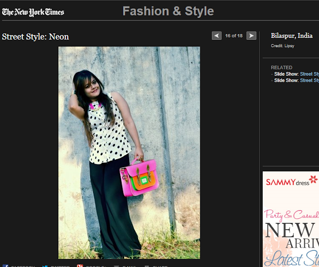 Fashion blogger from India on New york times