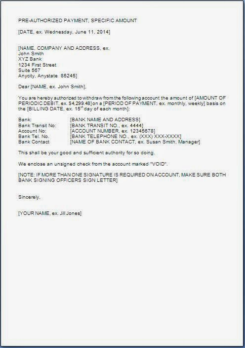 Pre Authorization Letter Sample