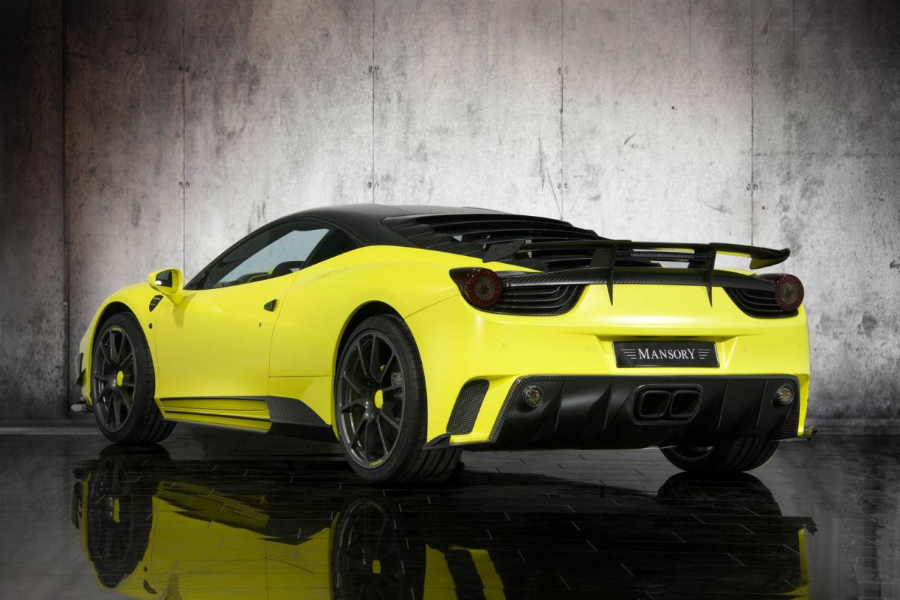 ferrari 458 italia tuned into mansory siracusa car tuning styling. Black Bedroom Furniture Sets. Home Design Ideas
