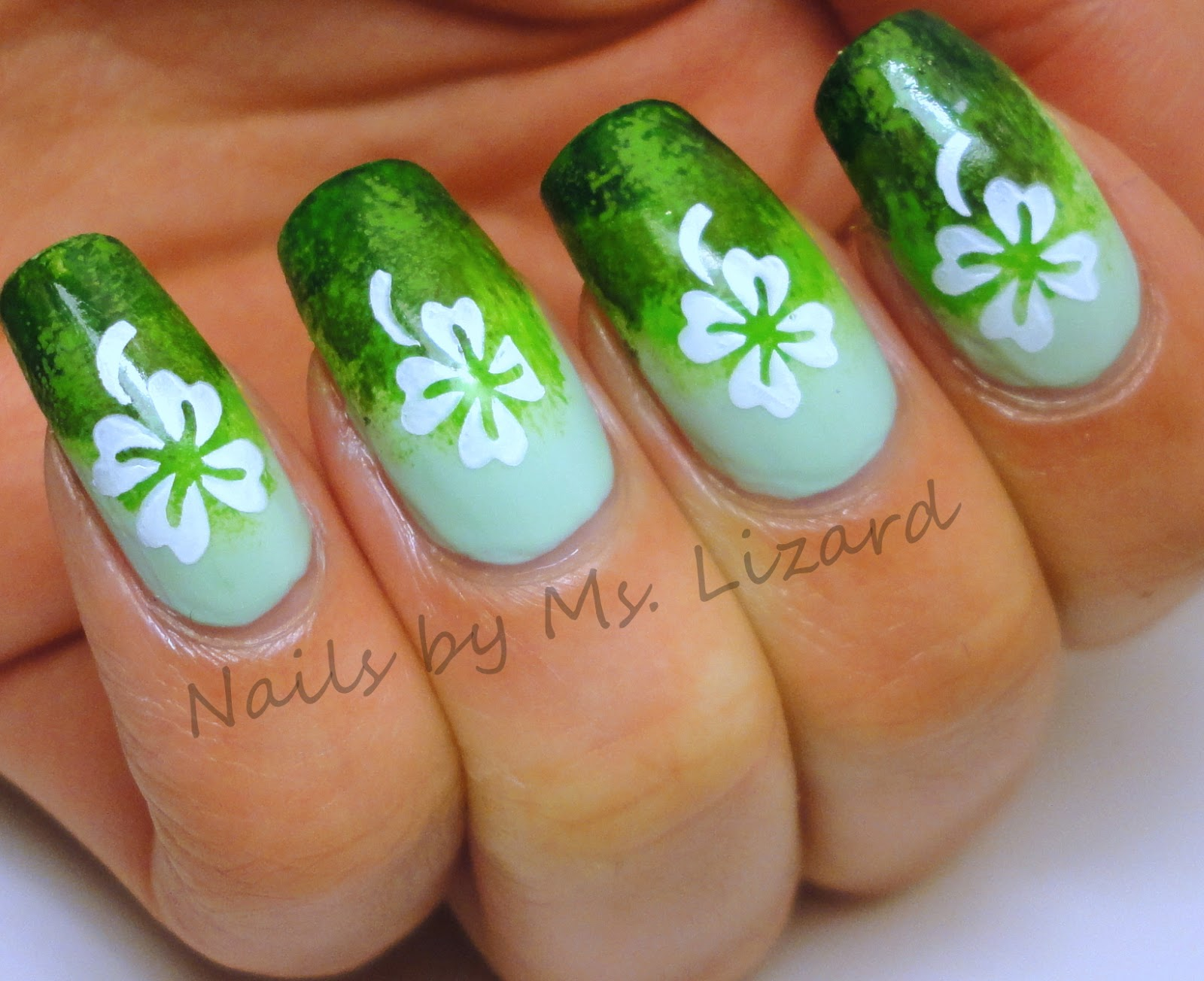 Nails By Ms Lizard Clover Nail Art