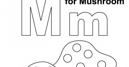 Letter Mm printable coloring pages