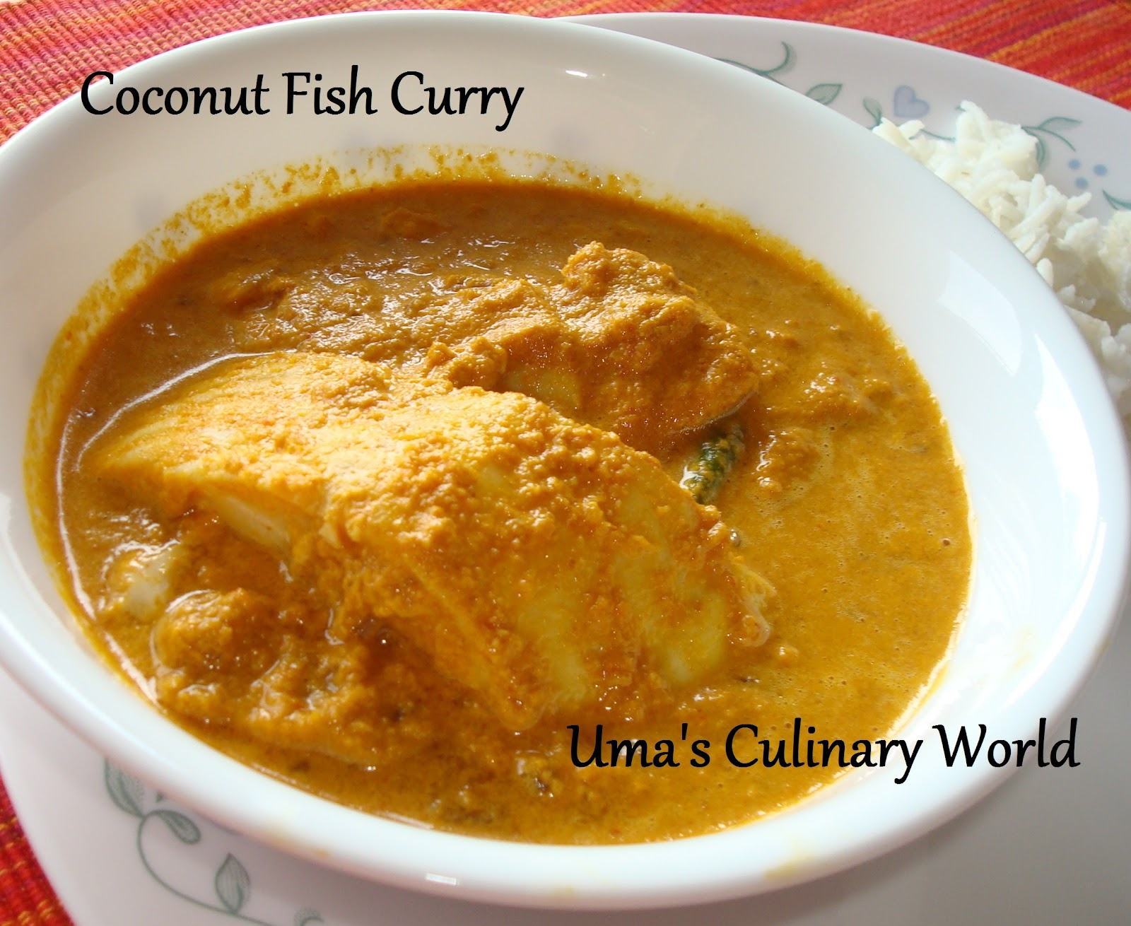 Uma's Culinary World: Coconut Fish Curry