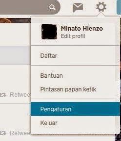 menu pengaturan twitter