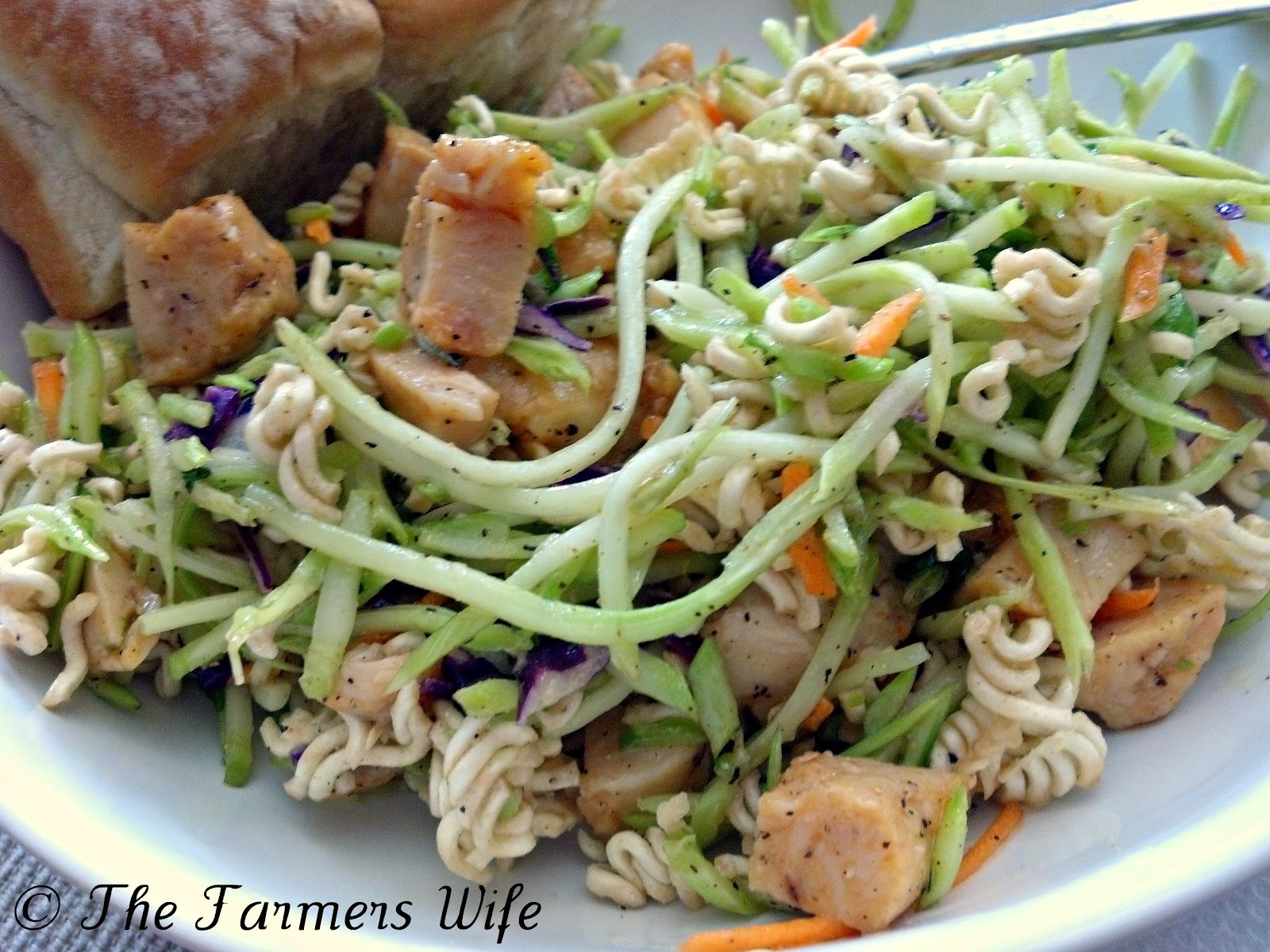 Chicken Ramen Salad, Family Recipe