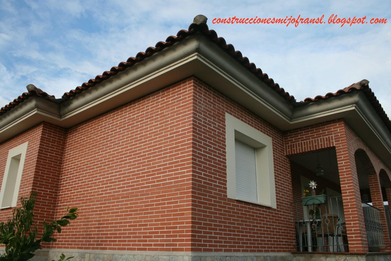 Construcciones mijofran s l casa de ladrillo visto - Casas ladrillo visto ...