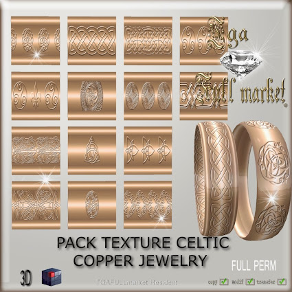 PACK TEXTURE CELTIC COPPER JEWELRY
