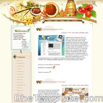 Aroma of Thai blogger template