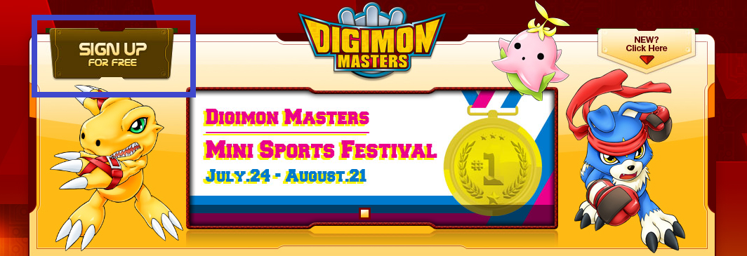 How to create a Joymax's Digimon Masters Online