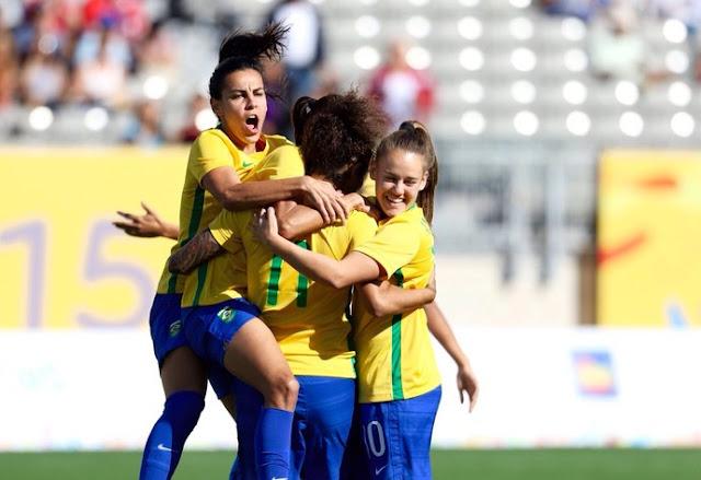 Brasil supera o México e vai à final do futebol feminino no Pan-Americanos