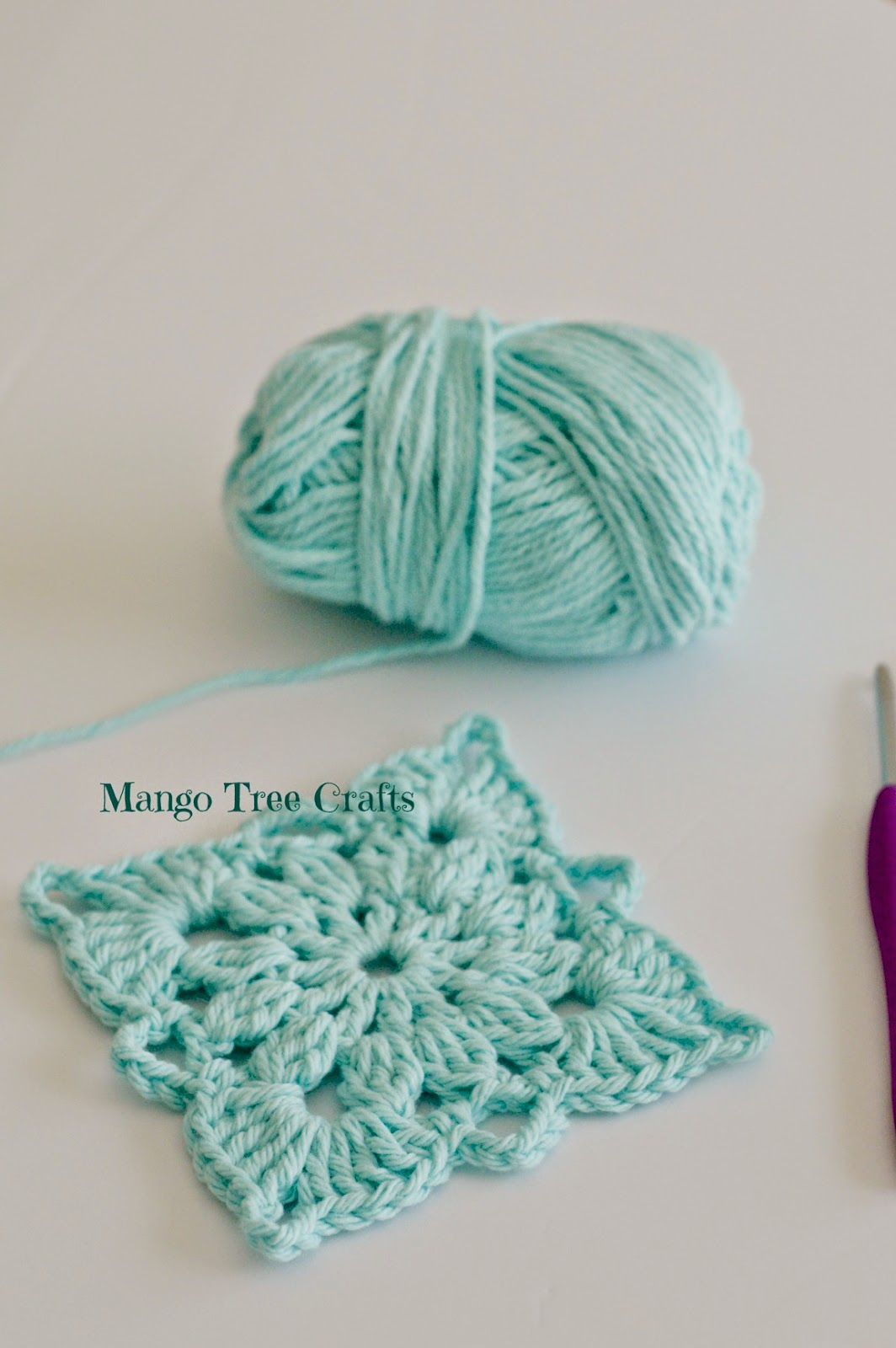 Free Crochet Pattern Square Hat : Mango Tree Crafts: Crochet Square Pattern and Photo Tutorial