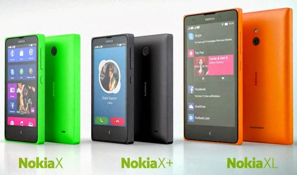 Nokia X, X+ dan XL