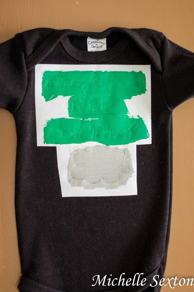 Decorate a onesie with a freezer paper stencil