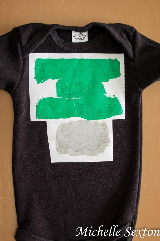 Decorate a onesie with a freezer paper stencil