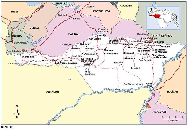 Resultado de imagen para Municipio romulo Gallegos mapa